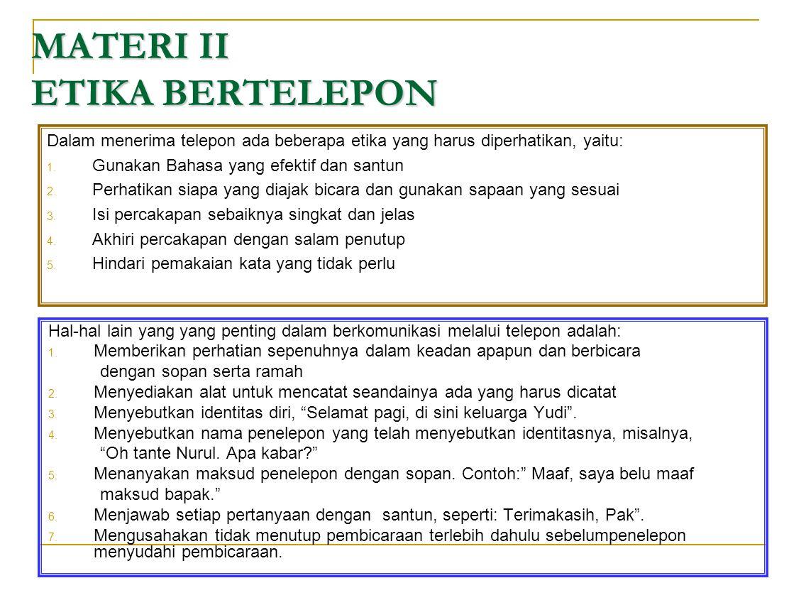 MATERI II ETIKA BERTELEPON