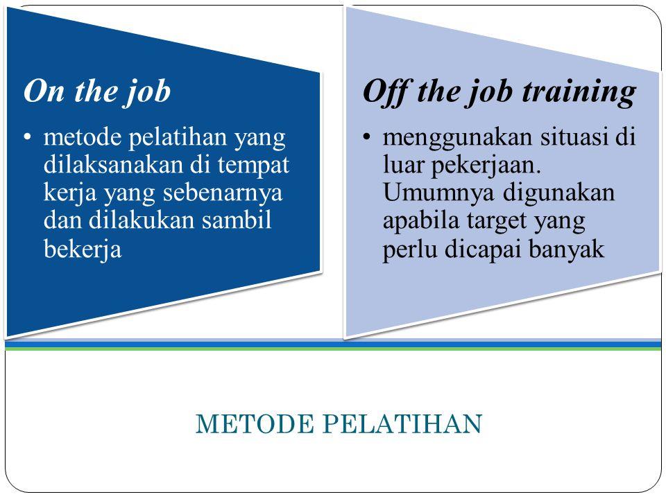 METODE PELATIHAN On the job