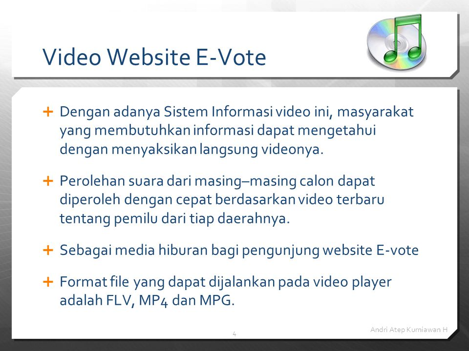 Video Website E-Vote