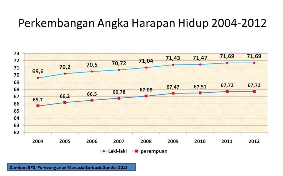 Perkembangan Angka Harapan Hidup 2004-2012