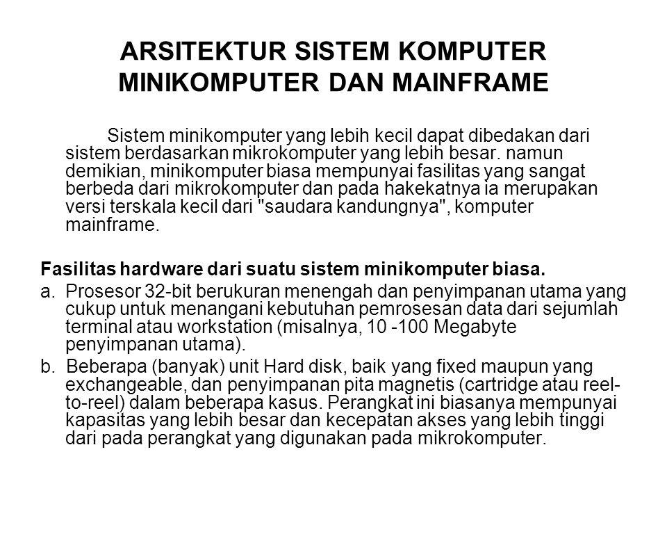 ARSITEKTUR SISTEM KOMPUTER MINIKOMPUTER DAN MAINFRAME