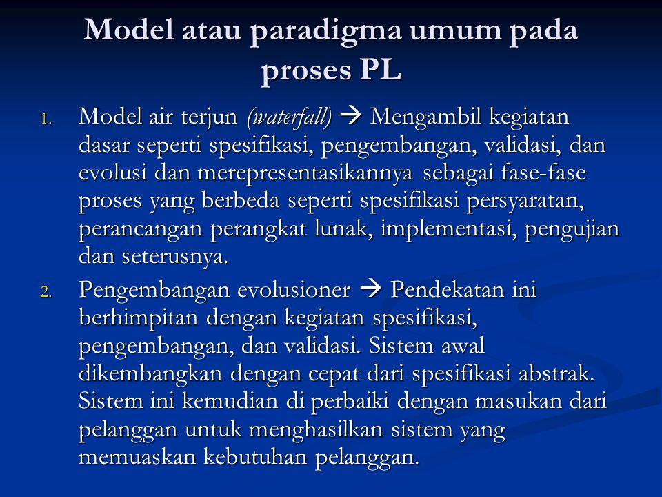 Model atau paradigma umum pada proses PL