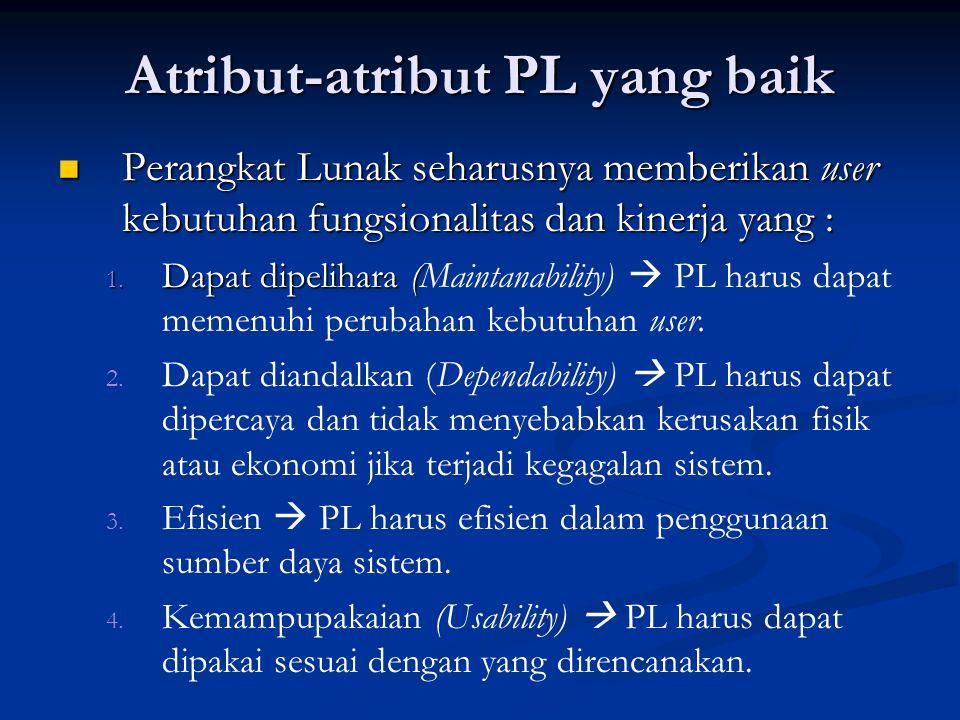 Atribut-atribut PL yang baik