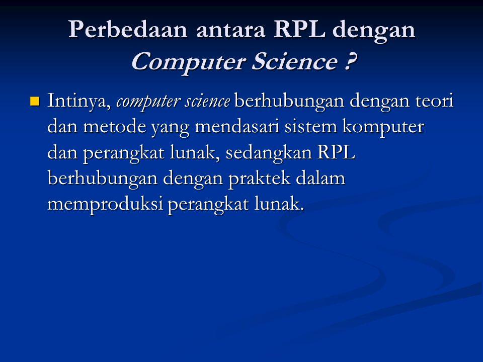 Perbedaan antara RPL dengan Computer Science