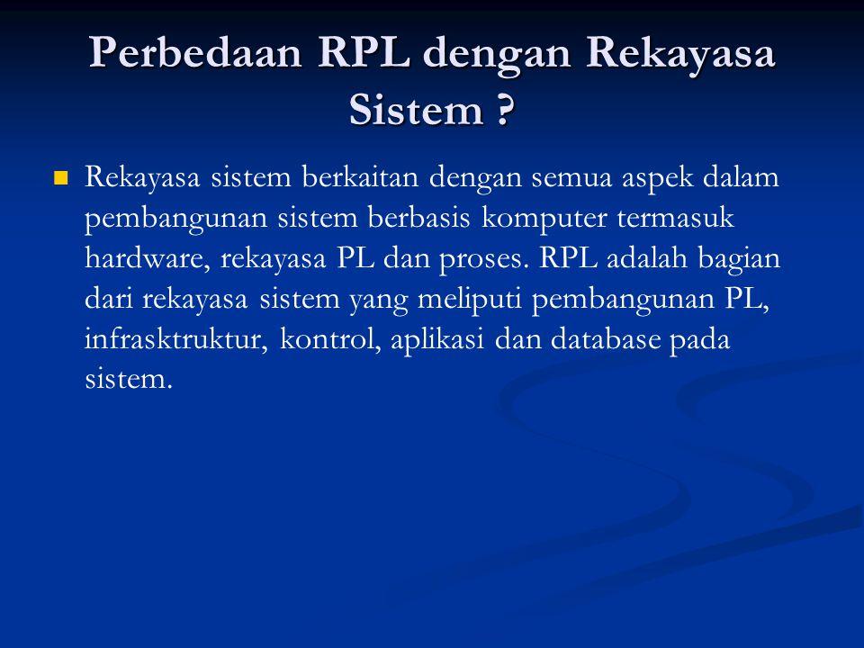Perbedaan RPL dengan Rekayasa Sistem
