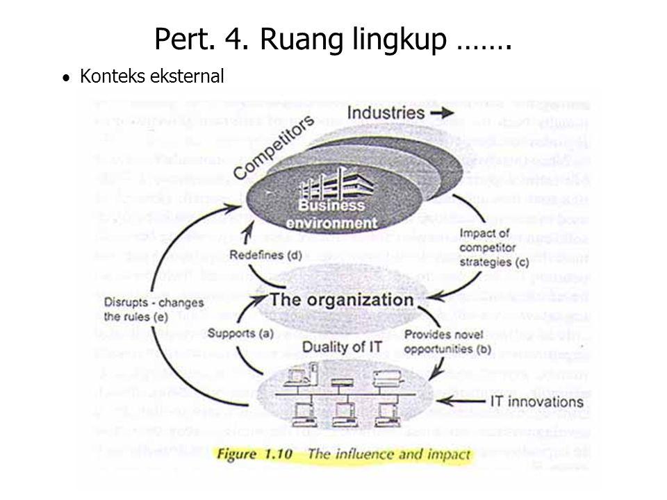 Pert. 4. Ruang lingkup ……. · Konteks eksternal