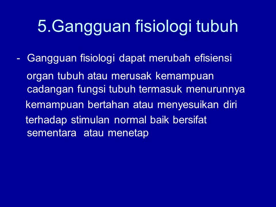 5.Gangguan fisiologi tubuh