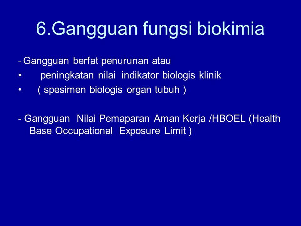 6.Gangguan fungsi biokimia