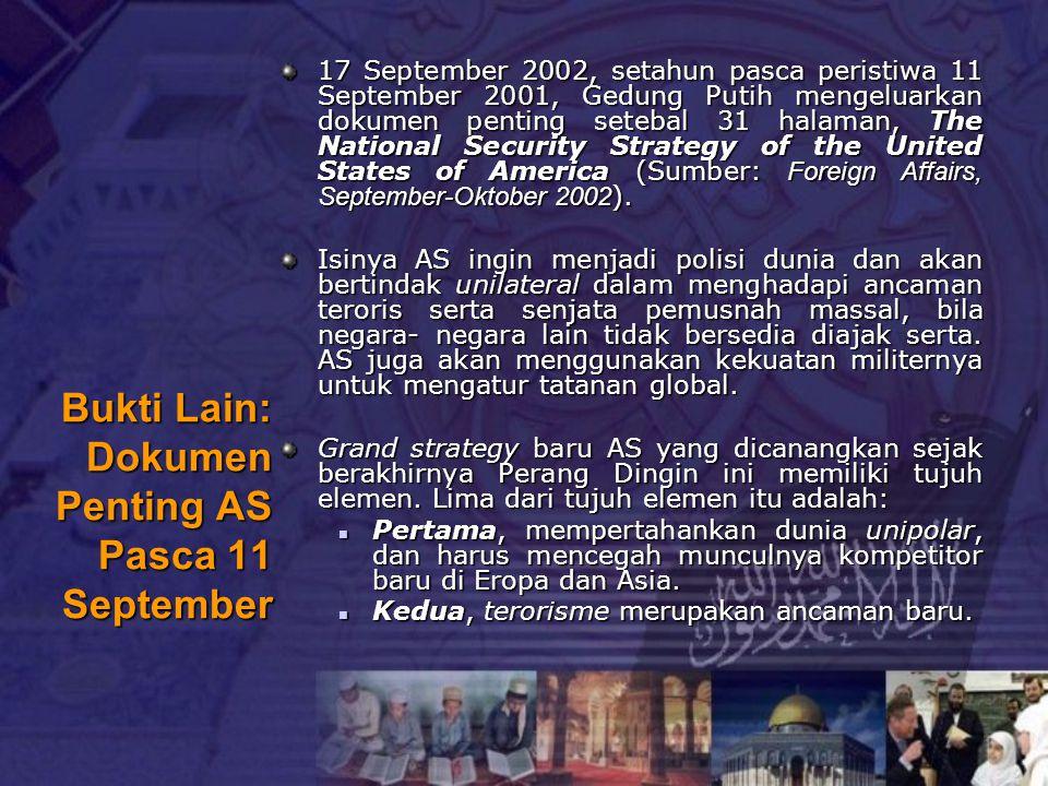 Bukti Lain: Dokumen Penting AS Pasca 11 September