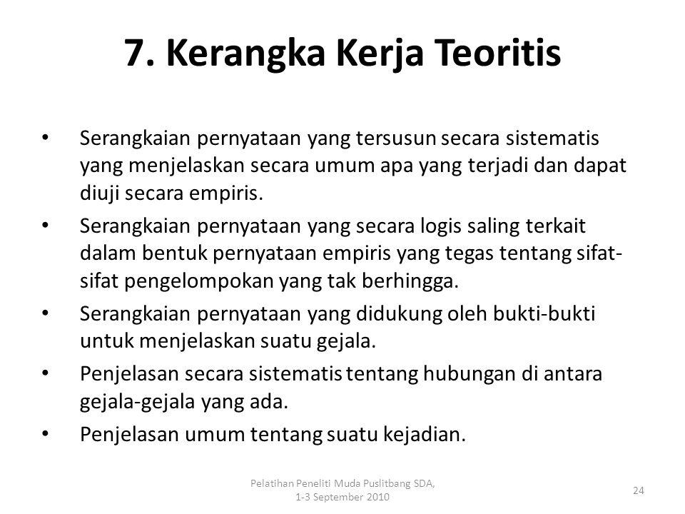 7. Kerangka Kerja Teoritis