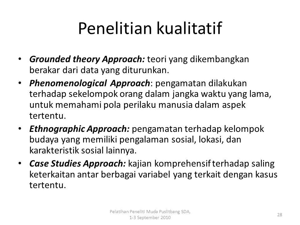 Penelitian kualitatif