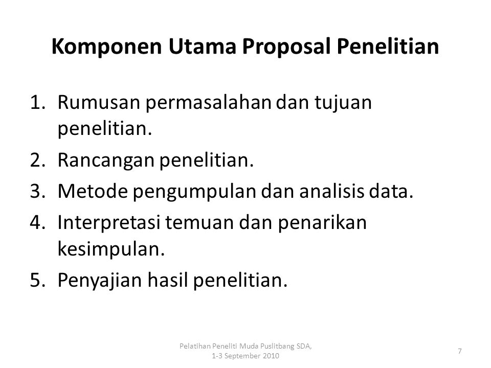 Komponen Utama Proposal Penelitian