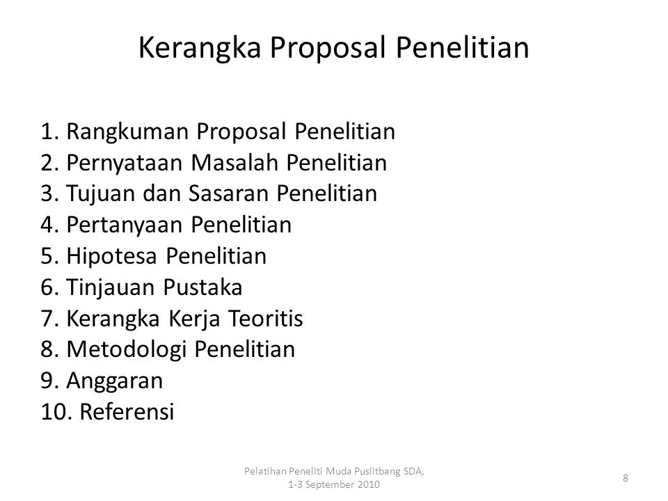Kerangka Proposal Penelitian