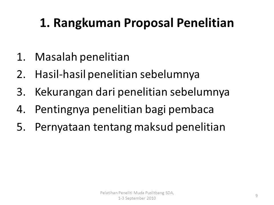 1. Rangkuman Proposal Penelitian