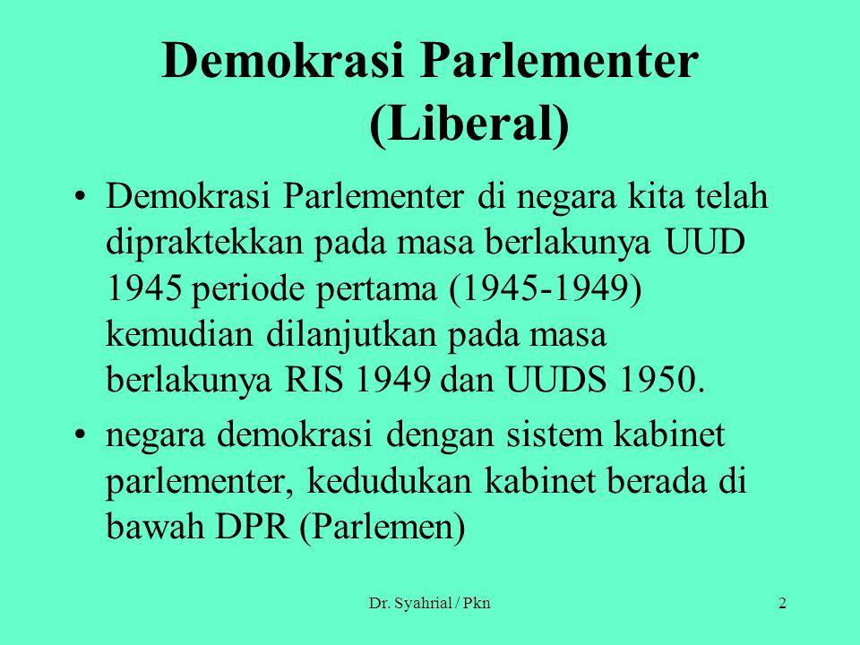 Demokrasi Parlementer (Liberal)