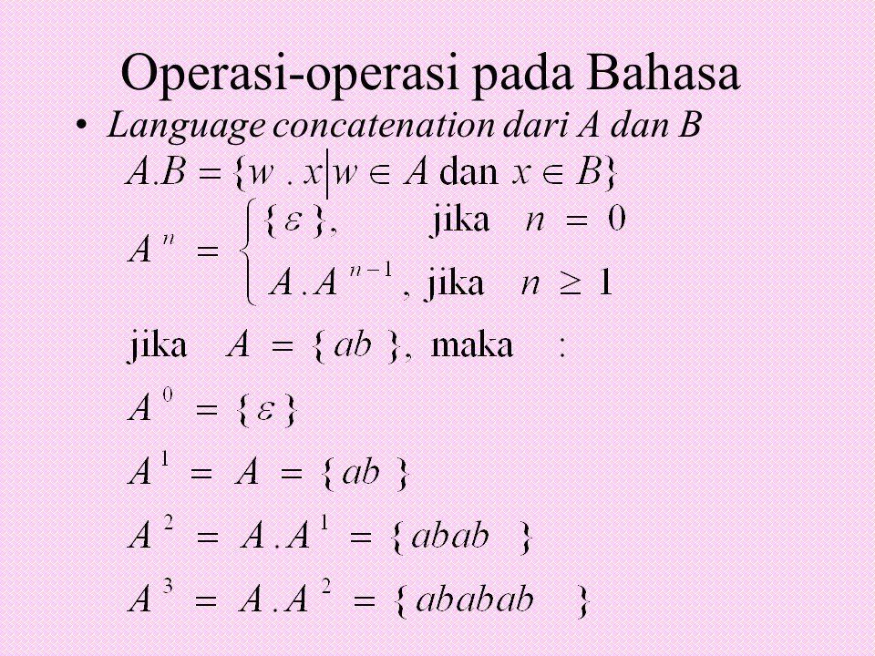 Operasi-operasi pada Bahasa