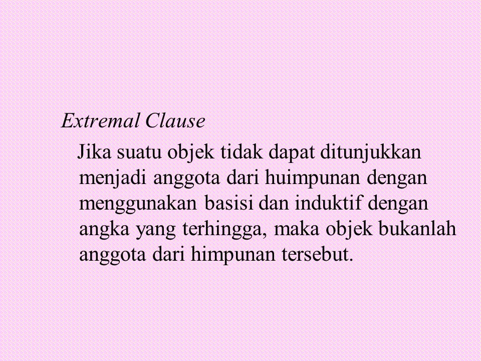 Extremal Clause