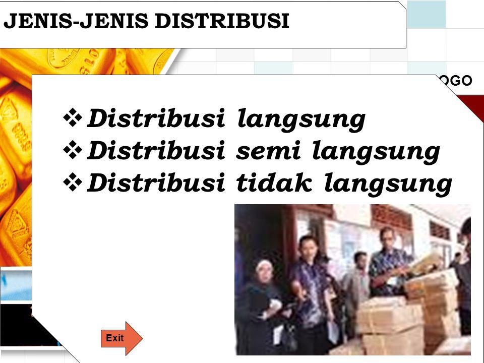 Distribusi semi langsung Distribusi tidak langsung