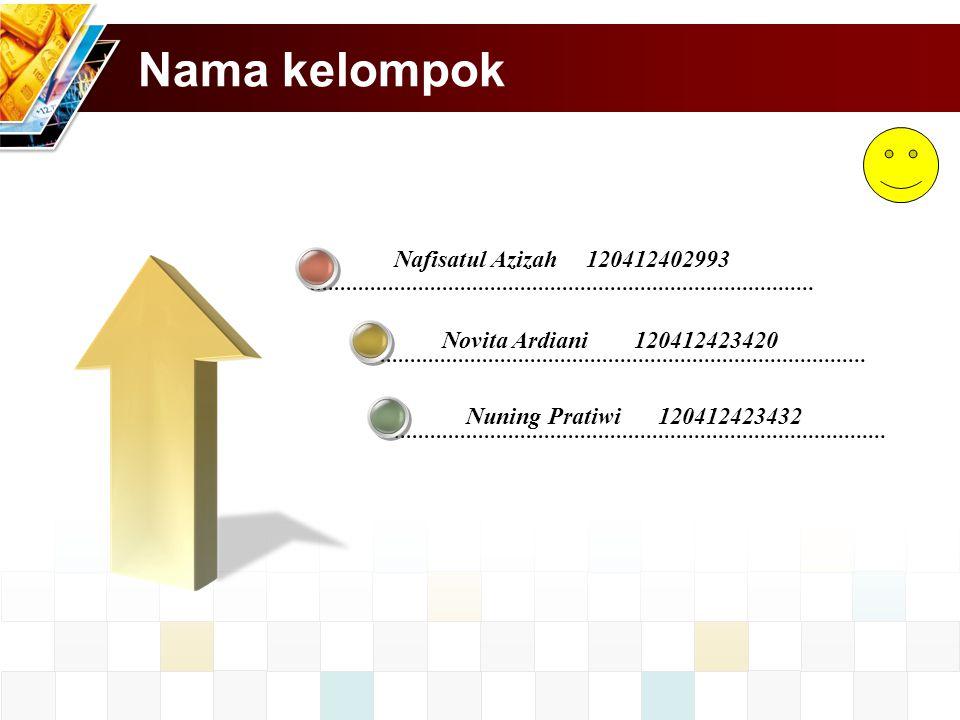 Nama kelompok Nafisatul Azizah 120412402993