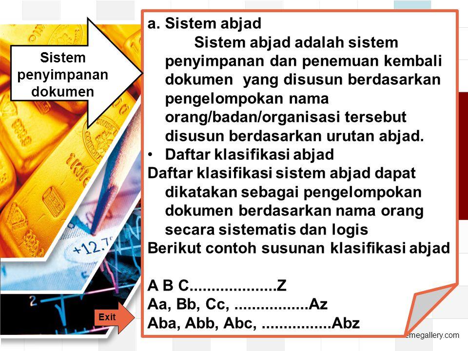 Sistem penyimpanan dokumen