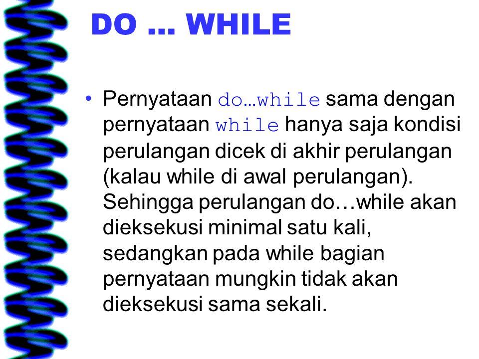 DO … WHILE