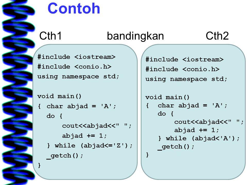 Contoh Cth1 bandingkan Cth2
