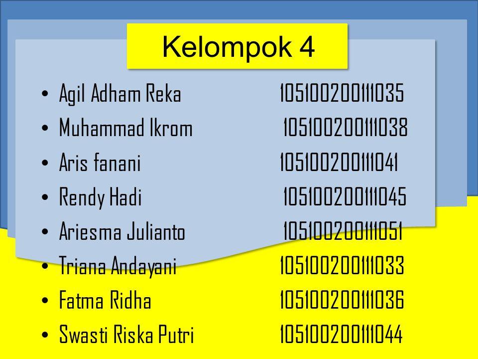 Kelompok 4 Agil Adham Reka 105100200111035