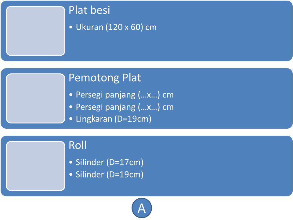 A Plat besi Pemotong Plat Roll Ukuran (120 x 60) cm