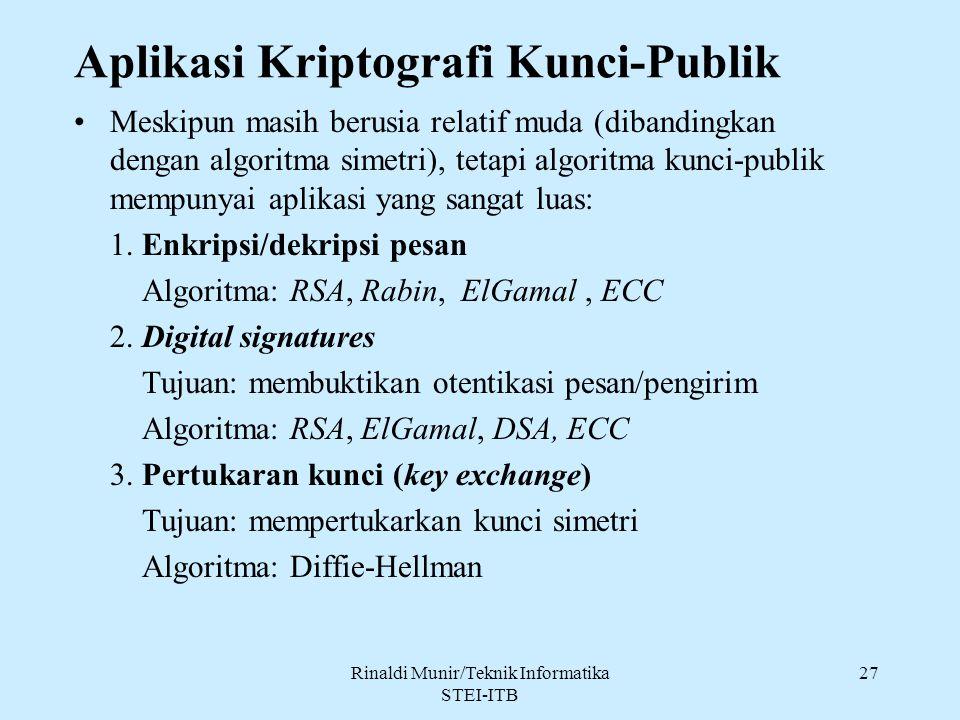 Aplikasi Kriptografi Kunci-Publik