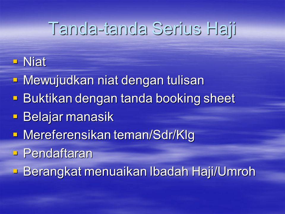 Tanda-tanda Serius Haji