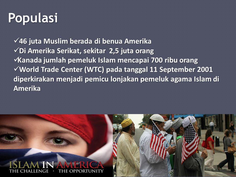 Populasi 46 juta Muslim berada di benua Amerika