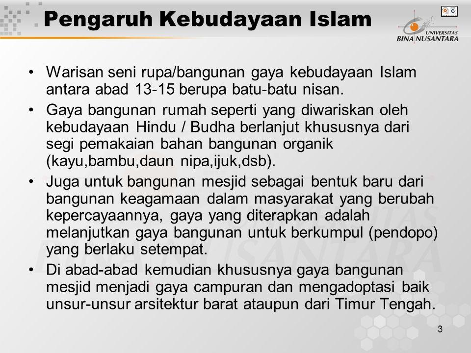 Pengaruh Kebudayaan Islam