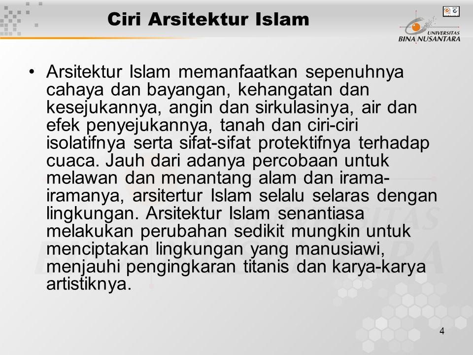 Ciri Arsitektur Islam