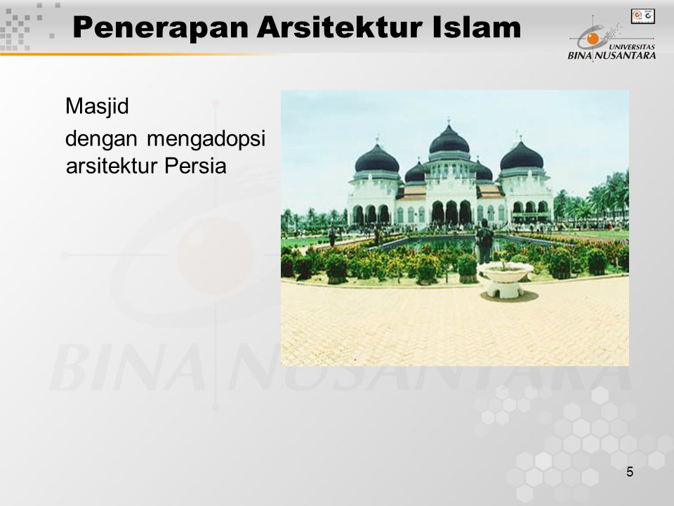 Penerapan Arsitektur Islam