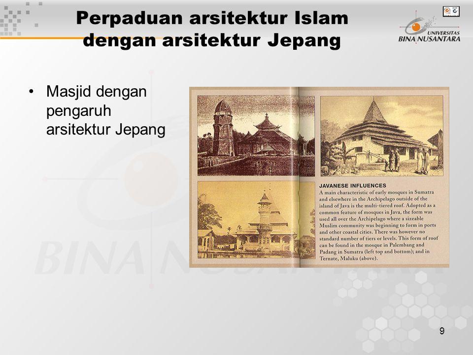 Perpaduan arsitektur Islam dengan arsitektur Jepang