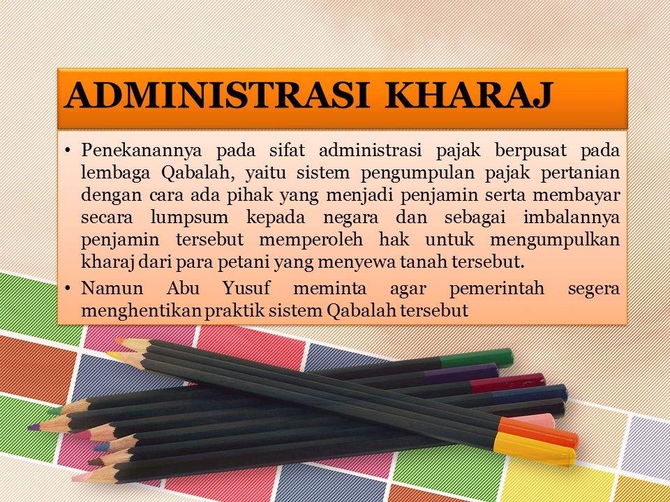 Administrasi Kharaj