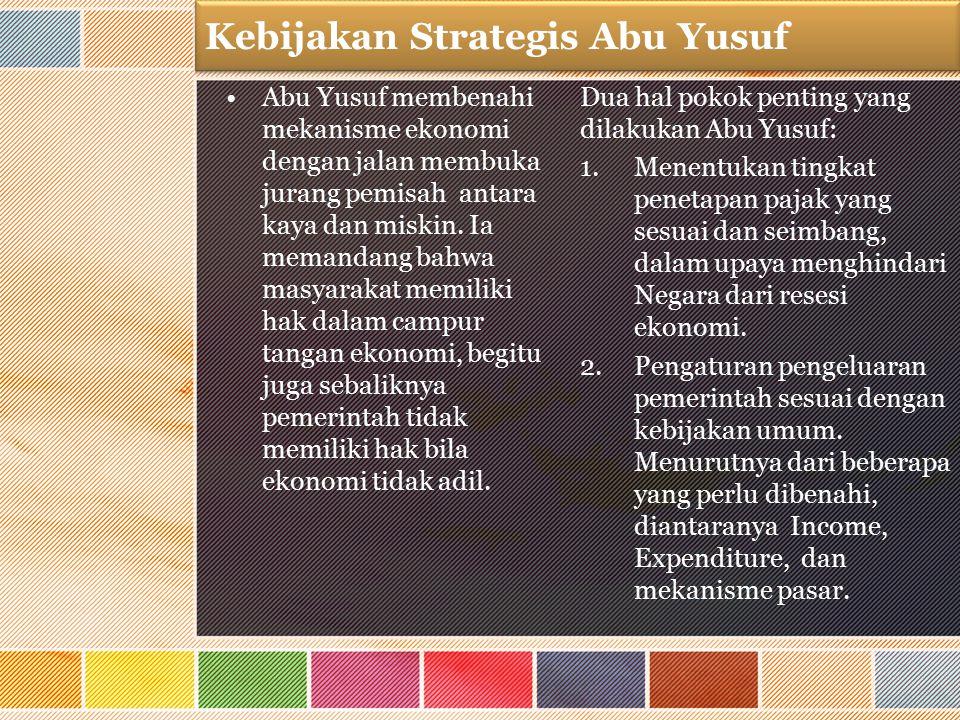 Kebijakan Strategis Abu Yusuf