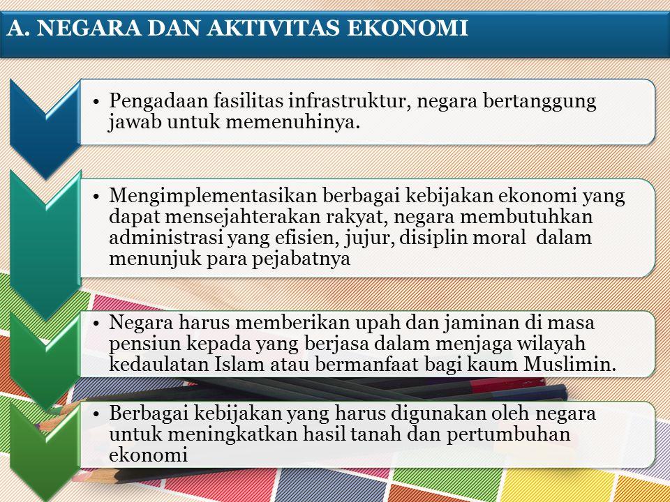 A. Negara dan Aktivitas Ekonomi