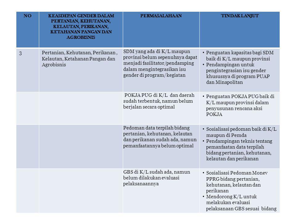 Penguatan kapasitas bagi SDM baik di K/L maupun provinsi