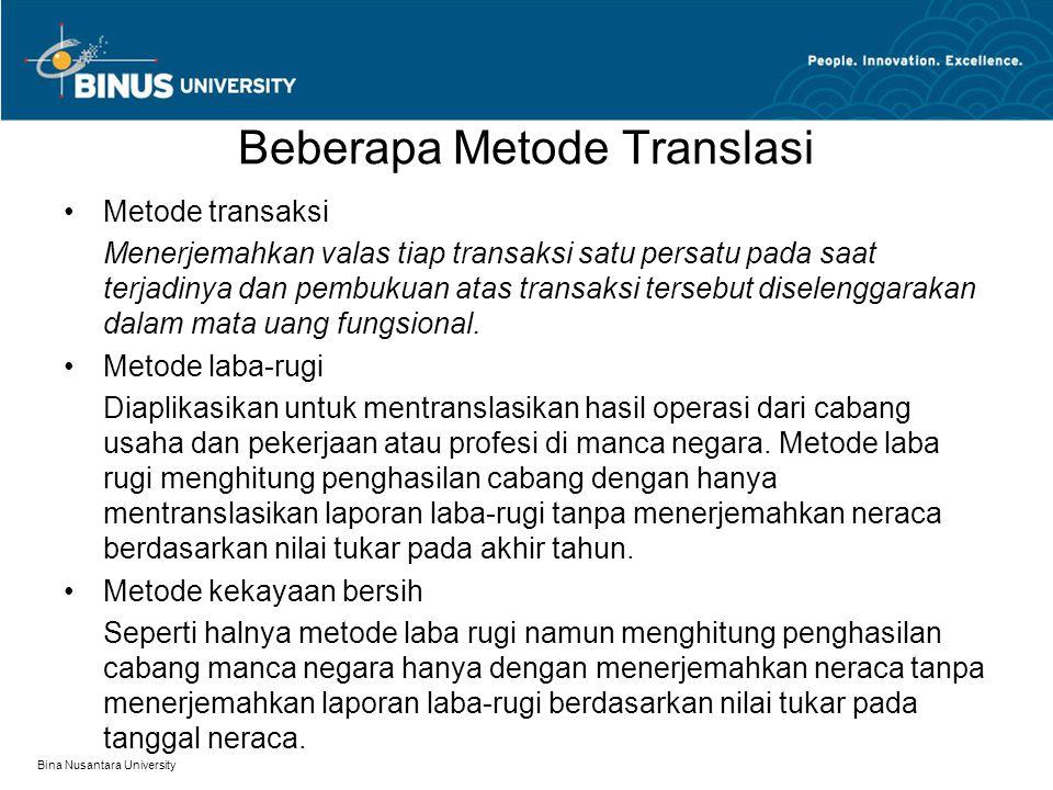Beberapa Metode Translasi