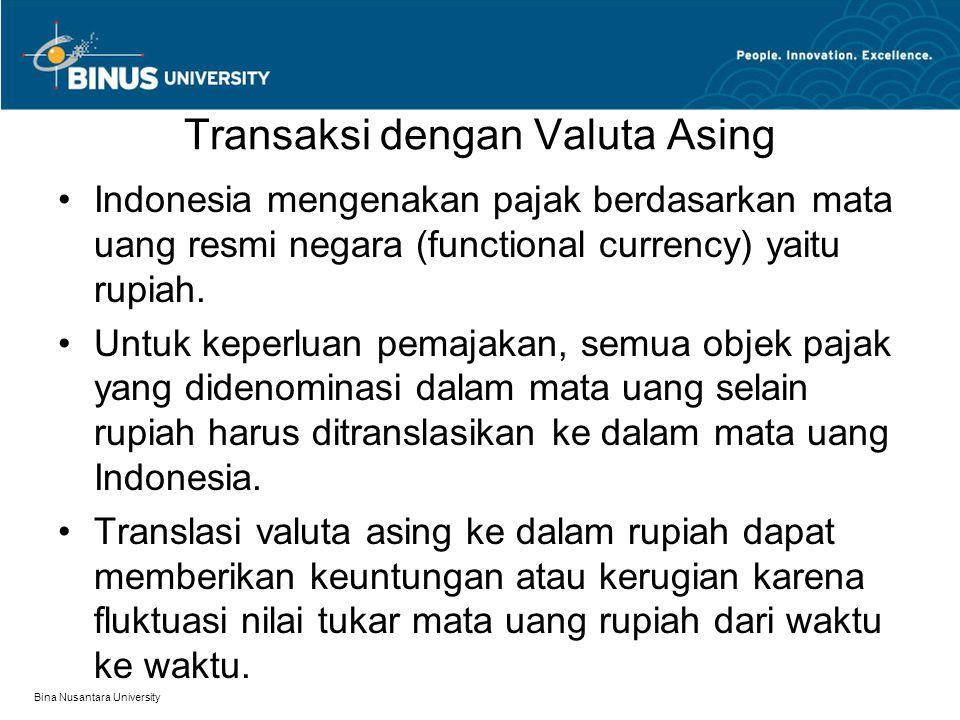 Transaksi dengan Valuta Asing