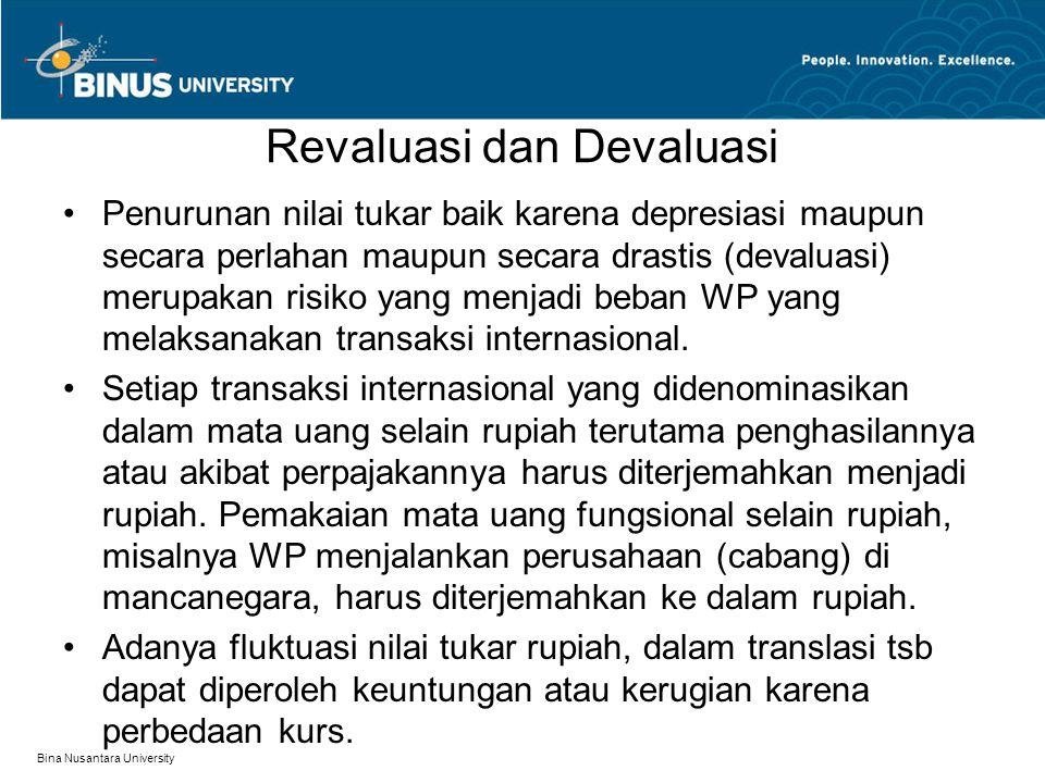 Revaluasi dan Devaluasi
