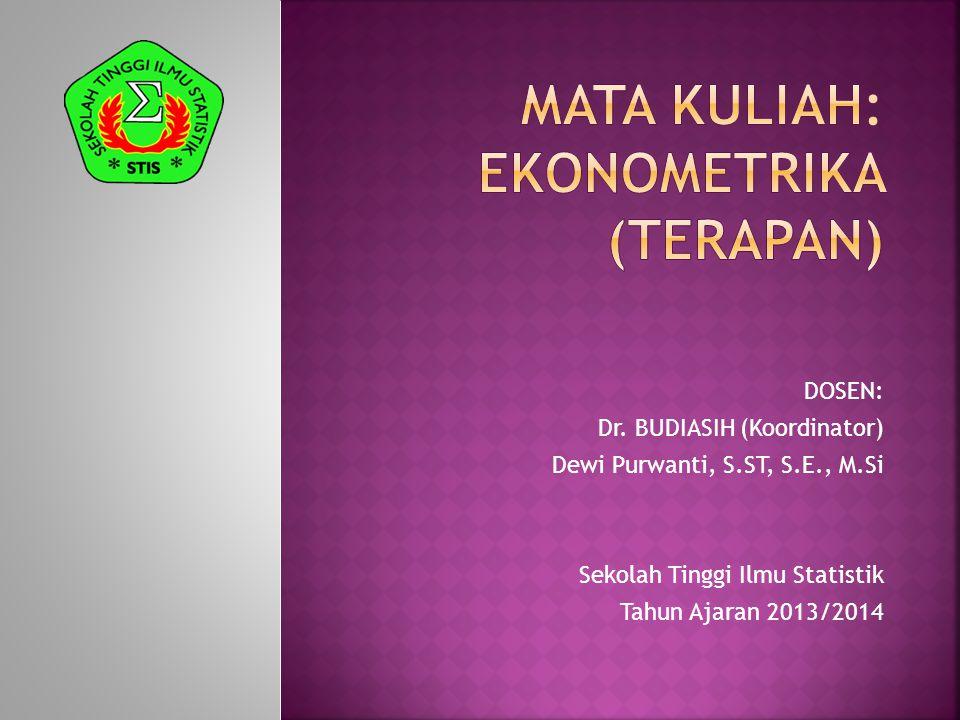 MATA kuliah: ekonometrika (terapan)