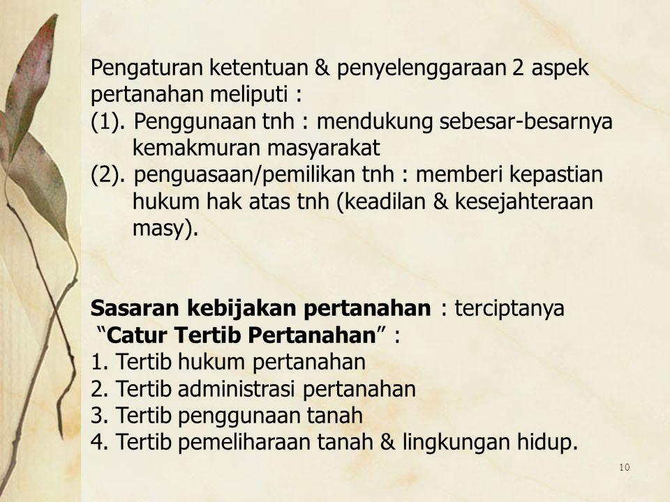 Pengaturan ketentuan & penyelenggaraan 2 aspek