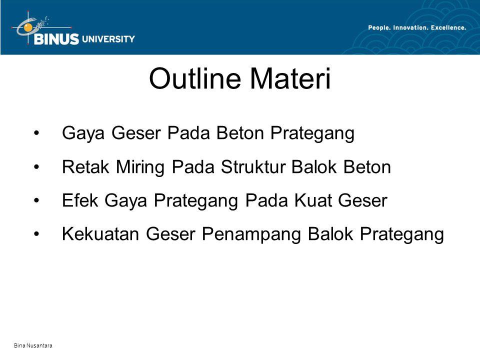Outline Materi Gaya Geser Pada Beton Prategang