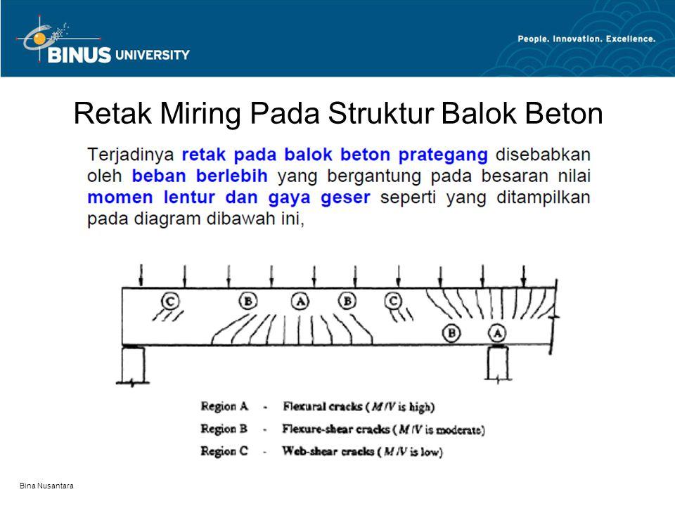 Retak Miring Pada Struktur Balok Beton
