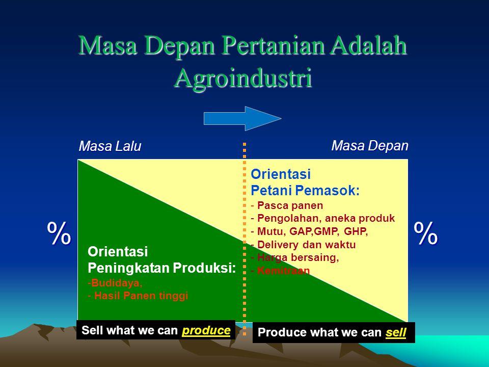 Masa Depan Pertanian Adalah Agroindustri