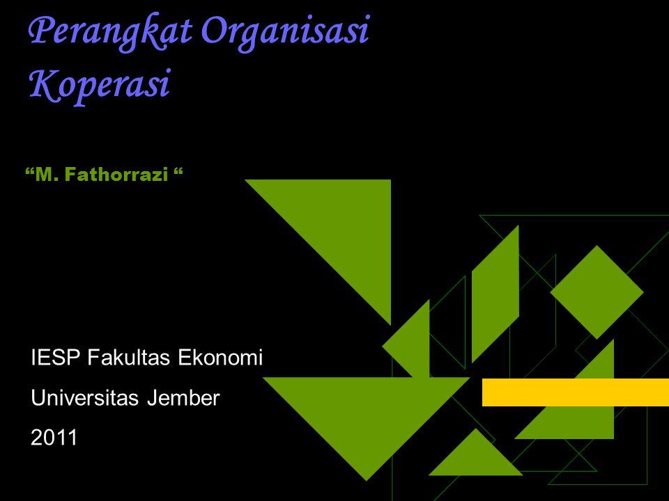 Perangkat Organisasi Koperasi M. Fathorrazi