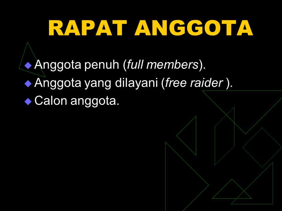 RAPAT ANGGOTA Anggota penuh (full members).