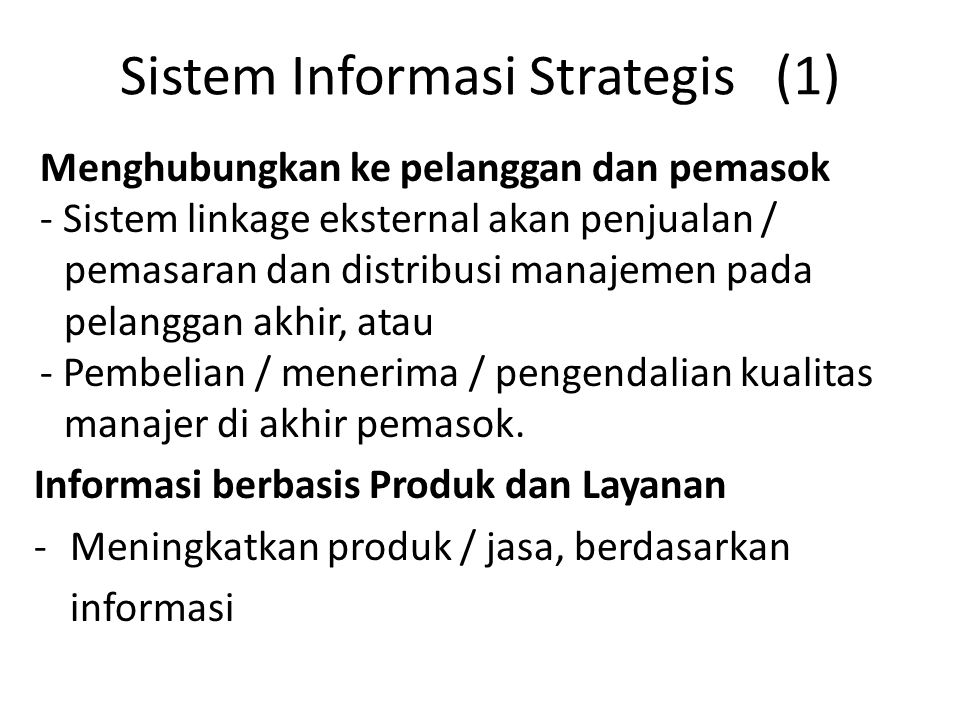 Sistem Informasi Strategis (1)